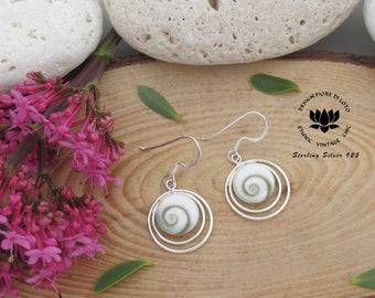 bfdaa381d0a4b White shell earrings   Etsy