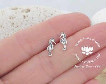 644a04235 Silver Seahorse Studs Seahorse earrings Silver Stud Earrings Tiny Seahorse  jewelry Marine Life earrings Nautical jewelry Small stud earrings