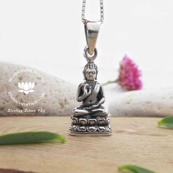Buddha Spiritual Awakening Buddhist Chain Necklace Jewellery Friend Yoga Gift