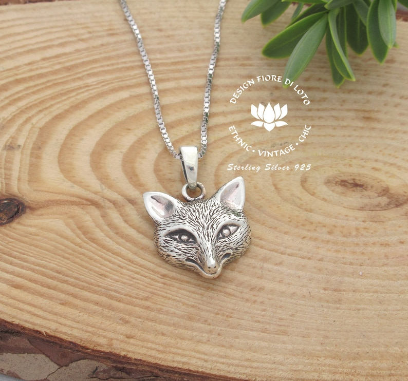 8fd59e85c7201 Fox Necklace Sterling silver fox pendant Fox jewelry Wild Animal necklace  Country-life jewelry Fox lover gift Fox set Unusual necklace