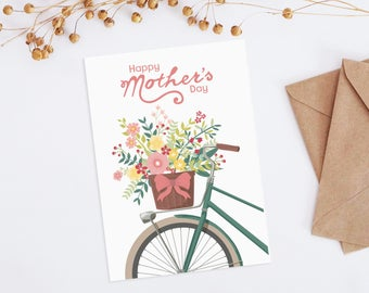 Mothers Day Card, Floral Mothers Day card, Happy Mothers Day, Printable Mothers Day card, Printable cards