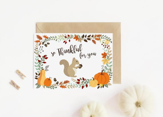 i am thankful for you card thanksgiving card printable etsy