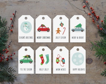Christmas gift tags printable, Christmas gift tags, Holiday gift tags,