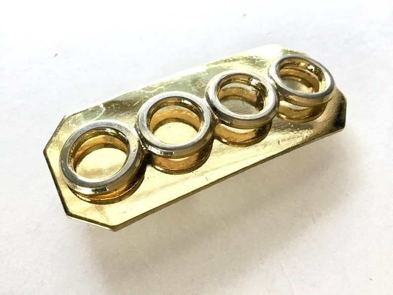 Vintage Metal Buckle Connector Component Metal Stamping Buckle Craft Embellishment Leather Working Metal Clamp Stamping Embellishment