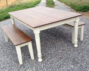 Country Kitchen - Farmhouse Style Dining Set