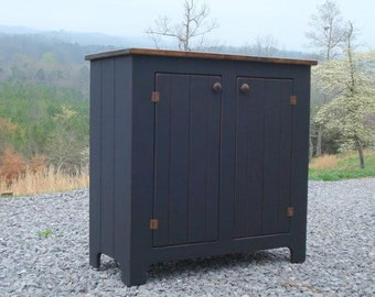 Black Sideboard,Multi Use Storage Cabinet,Country Sideboard, Kitchen Buffet, Buffet