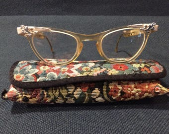 cdcfbcab89 1960 s vintage Shuron cat eye prescription eye glasses