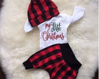my first christmas outfit boy baby boy first christmas outfit my 1st christmas baby girl first christmas outfit red plaid baby shower