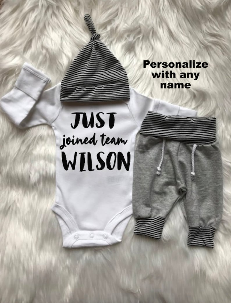 1aa45a68f BABY BOY Coming Home Outfit/baby boy/personalized/jogger/baby | Etsy