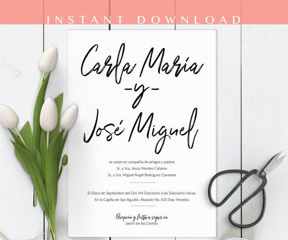 lovely spanish wedding invitation and 57 spanish wedding invitation wording ideas