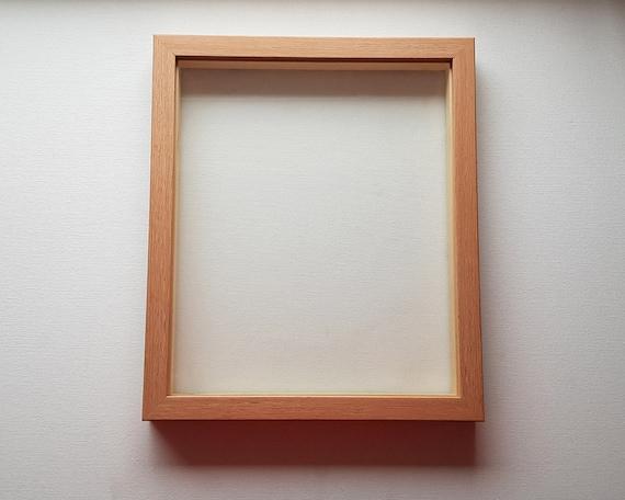 Oak Floating Papercut Frame Glass Artificial Wood Frames | Etsy