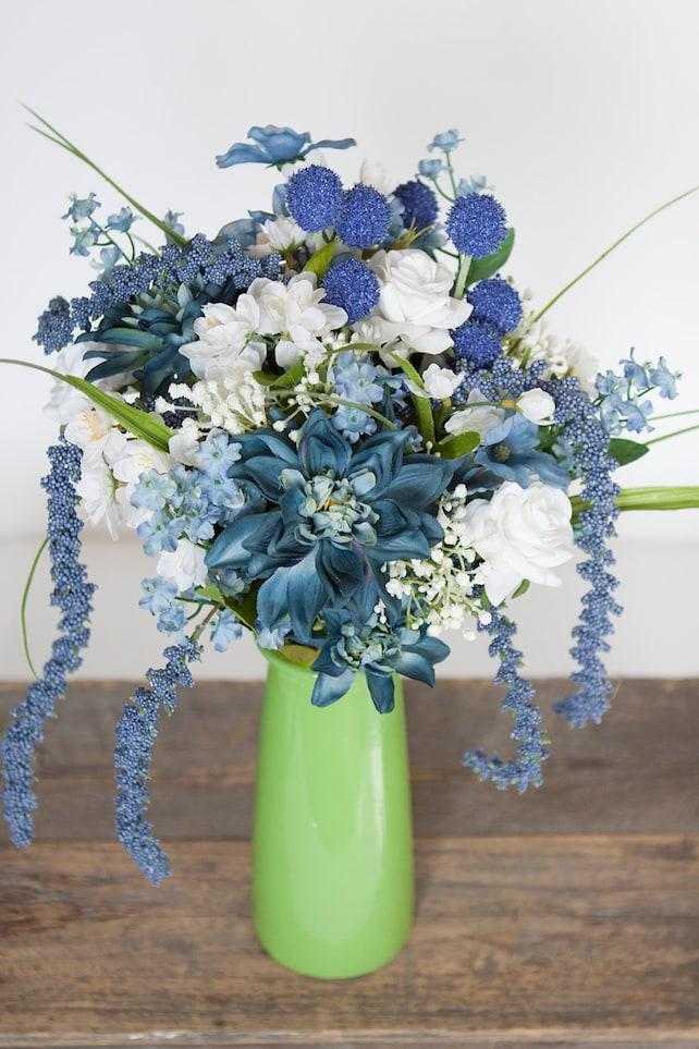 Blue Bouquet Blue Bridal Bouquet Hydrangea Bouquet | Etsy