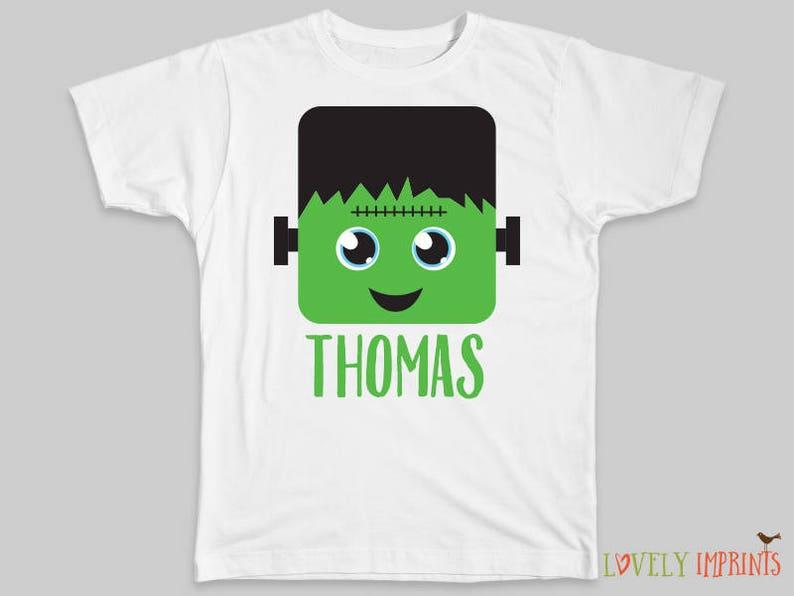 171b620585f Personalized Kids Halloween Shirt Monogram Halloween Tee
