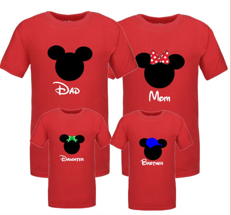 edcb0ec3 Disney Family Shirts Mickey and Minnie Head Ears His and Hers | Etsy
