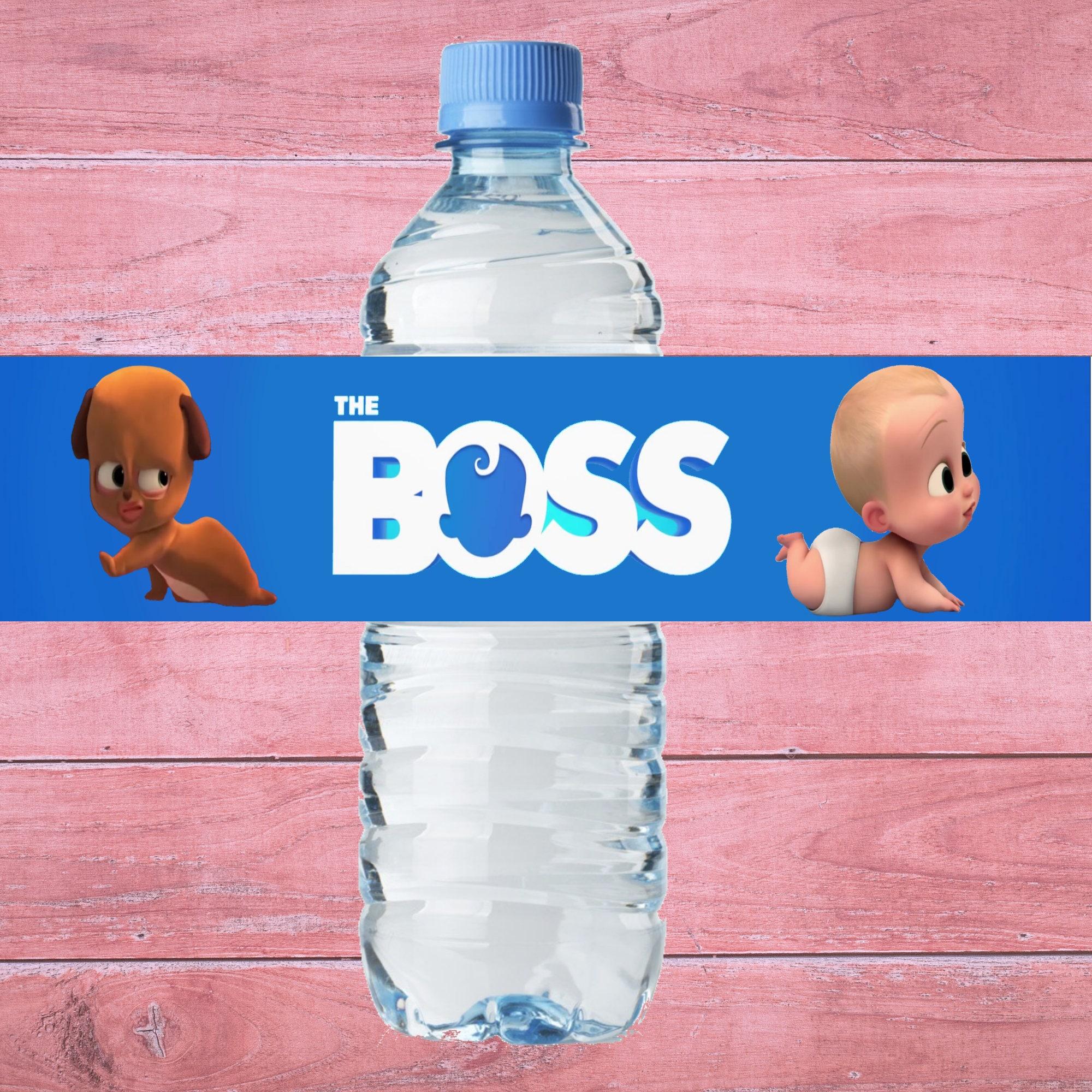 Boss Baby Water Bottle Label Boss Baby Bottle Label Boss Baby   Etsy