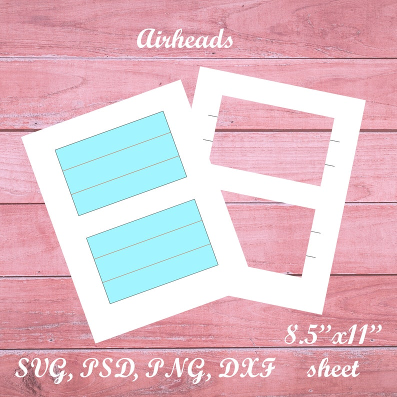 png dxf psd Airheads Wrapper Template Printable blank template svg blank sheet design