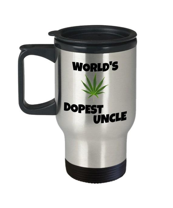 World/'s Dopest Dad Weed Marijuana Leaf Mug Coffee Mug Gift Tea Cups Mug