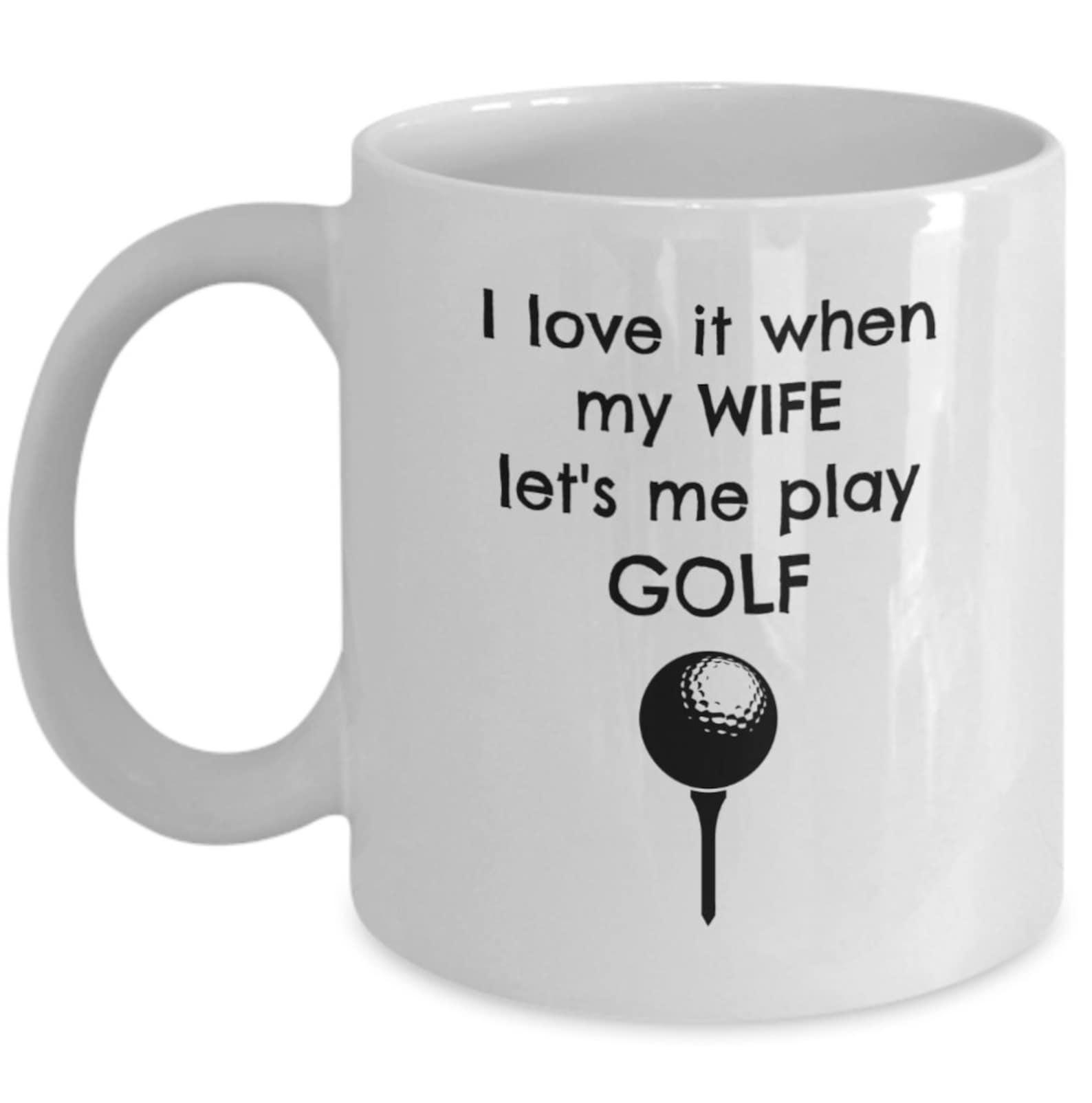 Golf-Becher ich liebe es wenn meine Frau lassen Sie mich