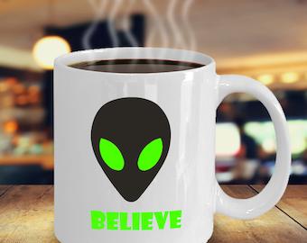 UFO coffee mug - I believe alien tea cup