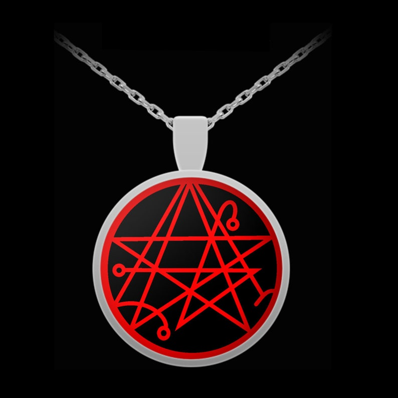 Esoteric necklace - Necronomicon gate symbol H P  Lovecraft Cthulhu old God  - occult horror fan gifts