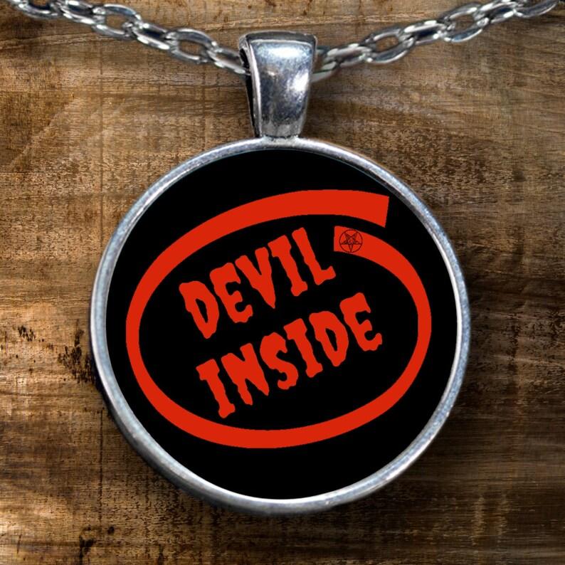 satanic gift satanic necklace Devil inside Satanic pendant black magick satanic jewelry 666 funny gift for Saran worshiper