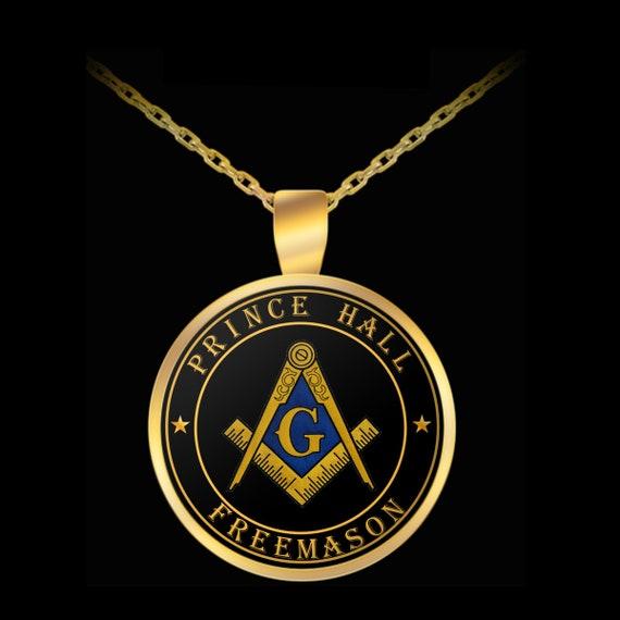 Masonic Necklace Prince Hall Freemason Symbol Pendant Pha Etsy