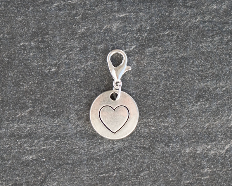 Tibetan Silver Entwined Love Heart Charms  10 per pack