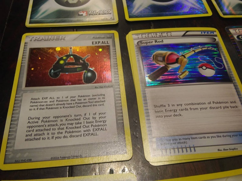 Rare Pokemon holo foil energy and trainer cards Pokemon organized play tournament reverse holo vintage rare light play play mint