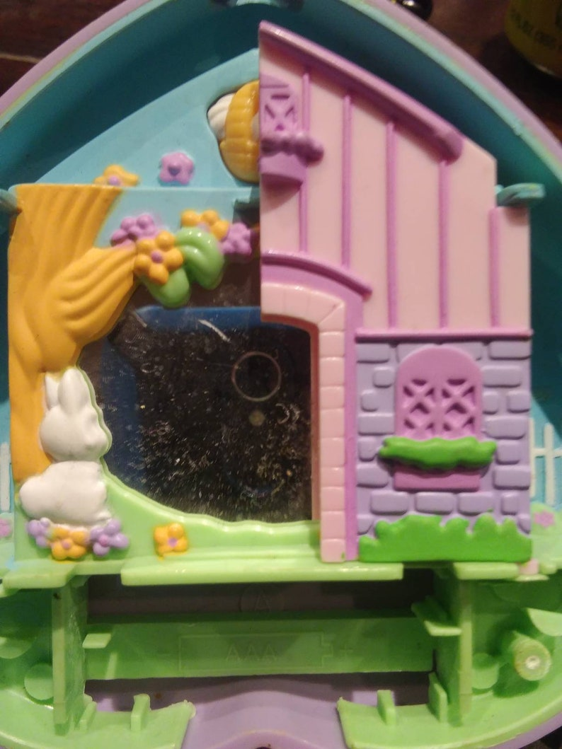 Vintage bootleg polly pocket my little fairy tales little red riding hood  90s compact clamshell toy dollhouse playset free shipping