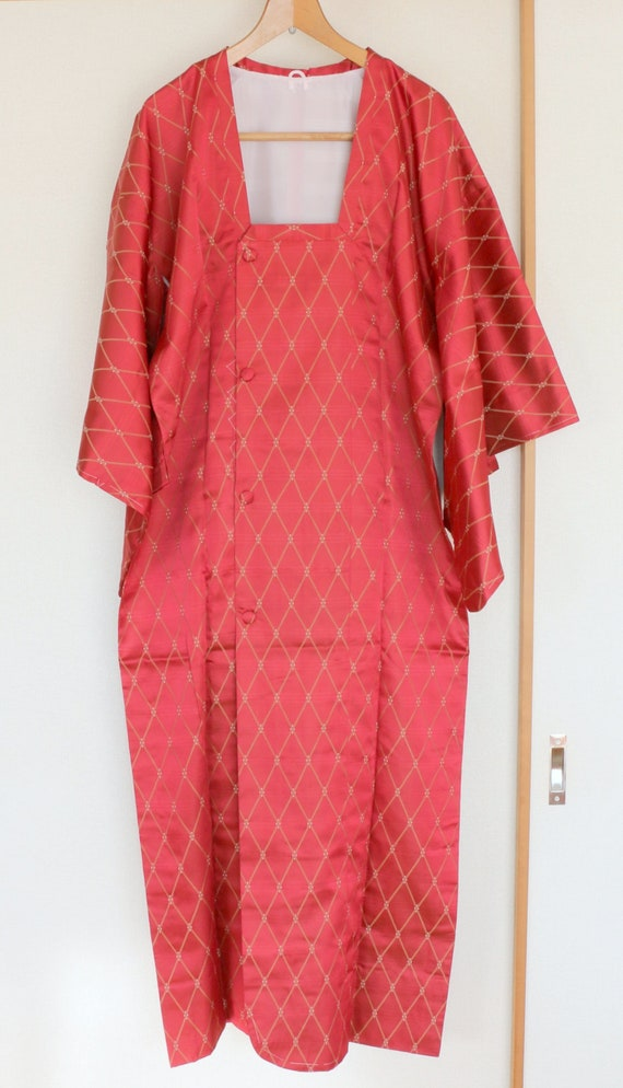 Vintage Japanese Kimono Coat, kimono Coat, Michiyu