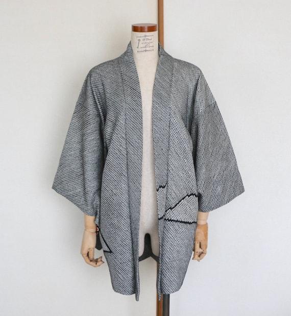 Vintage Japanese kimono Jacket /// Haori, Silk Shi