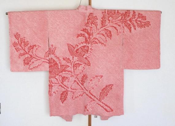 Vintage Japanese kimono Jacket /// Pink Kimono, Ha