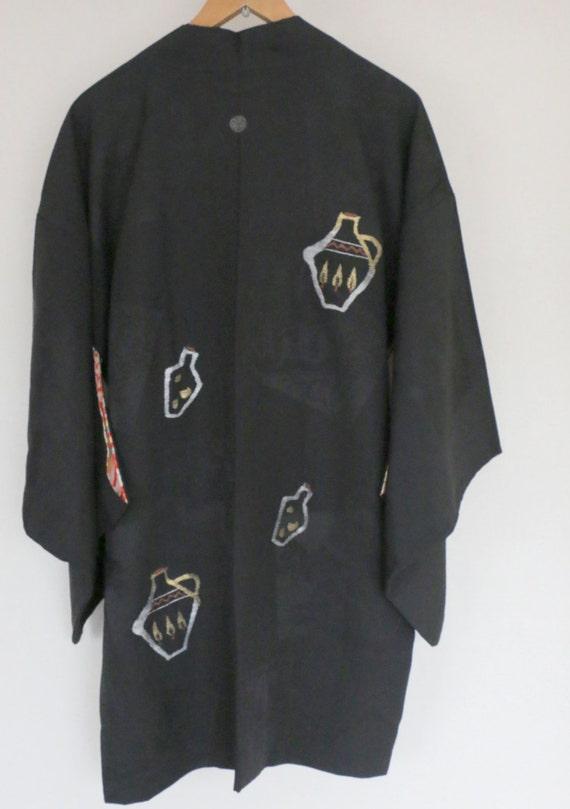 SALE /// Vintage Japanese Kimono Jacket, silk kim… - image 5