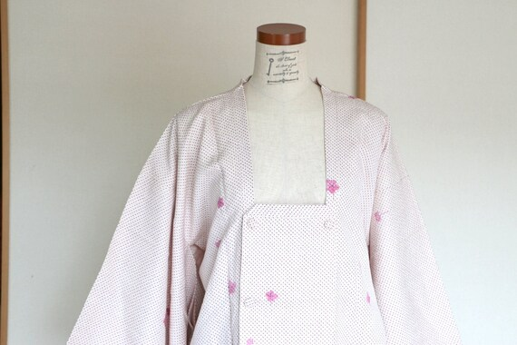 Vintage Kimono Coat, Silk coat /// Coat, Michiyuki