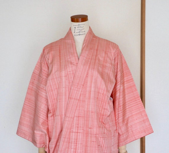 Vintage Japanese Kimono /// Pink Silk Kimono, Grad