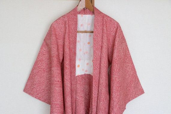 Vintage Japanese kimono Jacket ///  Haori, Silk Sh