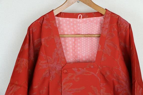 Vintage Kimono Coat, Silk coat, Vintage Japanese K