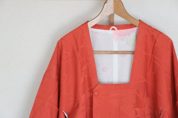 Vintage Japanese Kimono Coat, silk kimono Coat, Mi