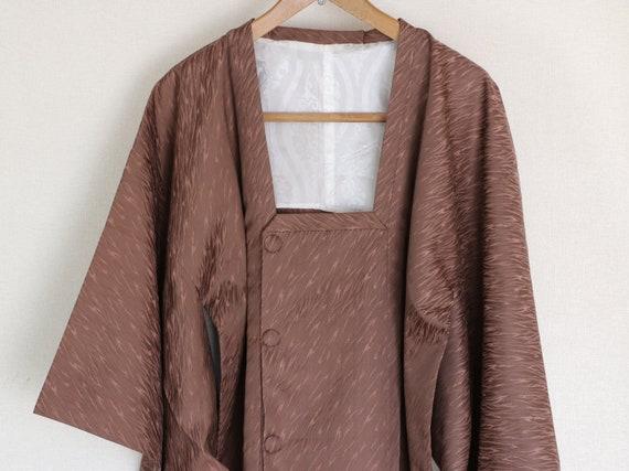 Vintage Kimono Coat, cocoa brown coat, Vintage Jap