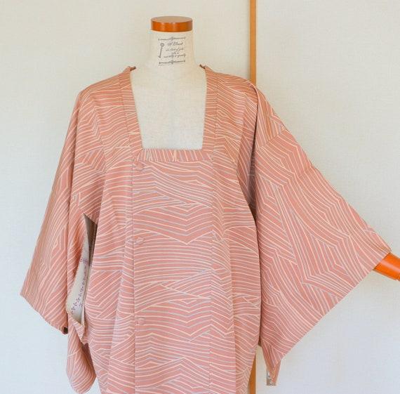 Vintage Pink Kimono Coat, Vintage Japanese Kimono… - image 3