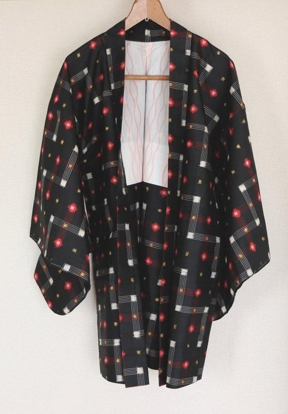 Vintage Japanese Kimono Jacket, silk kimono Jacket