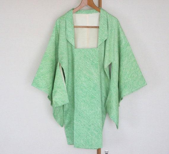 Vintage Kimono Coat /// white kimono coat, Michiyu