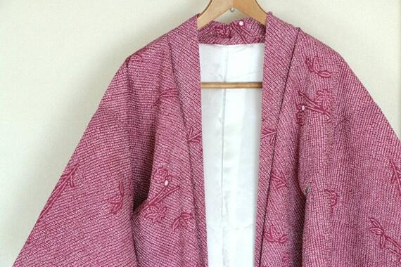 Vintage Japanese kimono Jacket ///  Haori, purple
