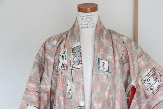 Vintage Japanese Kimono /// Robe, Abstract pattern