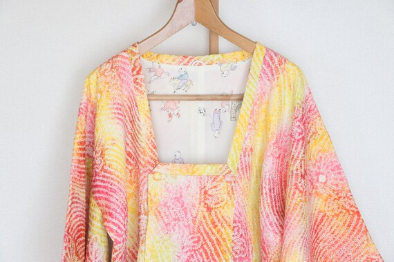 Vintage Kimono Coat /// Red kimono coat, Michiyuki