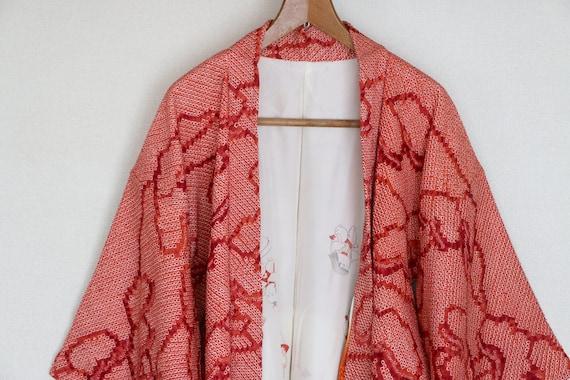 Vintage Japanese Kimono /// Kimono, Red Kimono, Vi