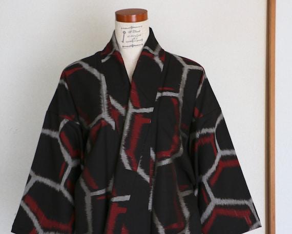 Vintage Japanese Kimono /// Tsumugi, Gray Kimono,