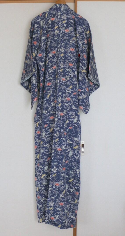 Vintage Kimono /// Kimono Robe, Kimono Gown, gown… - image 4