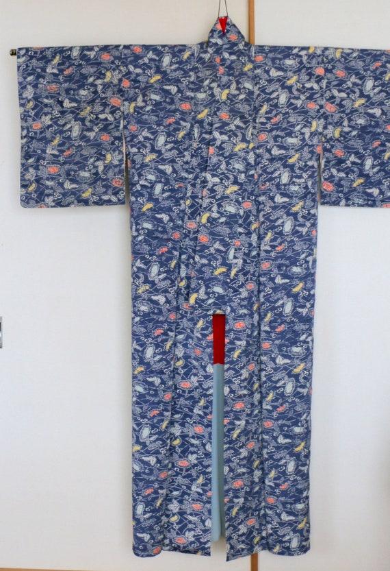 Vintage Kimono /// Kimono Robe, Kimono Gown, gown… - image 5
