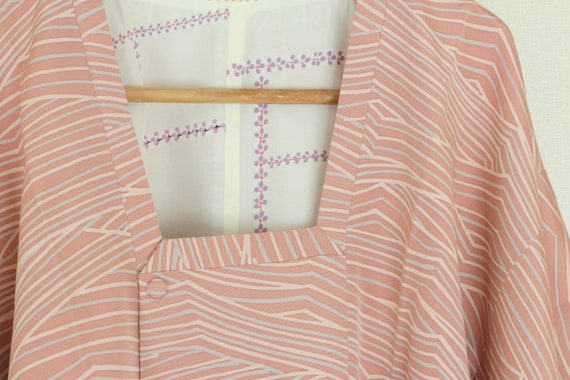 Vintage Pink Kimono Coat, Vintage Japanese Kimono… - image 4